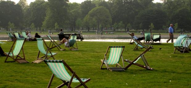 Relaxing in London