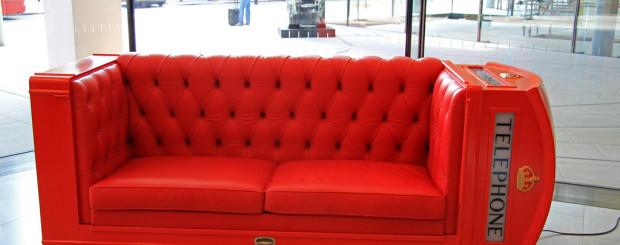 London Red Telephone Box Sofa