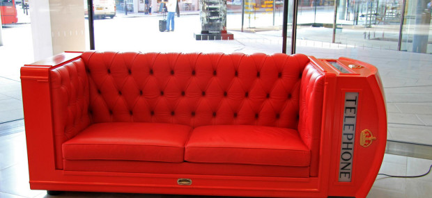 London Red Telephone Box Sofa