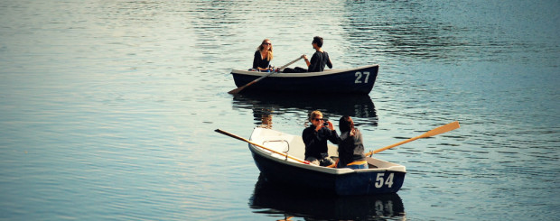 Summer boating in Hyde Park