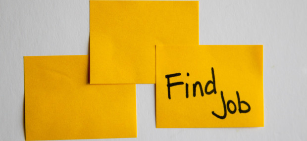 Find a job sticky note