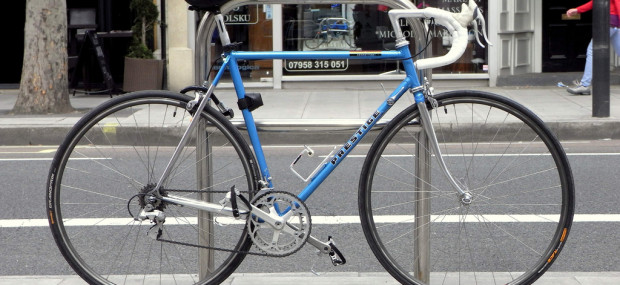 Bike locked in London